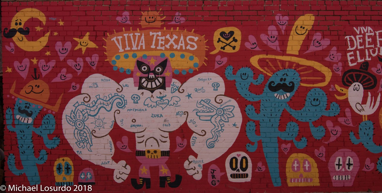 Art work from the Deep Ellum, Texas area