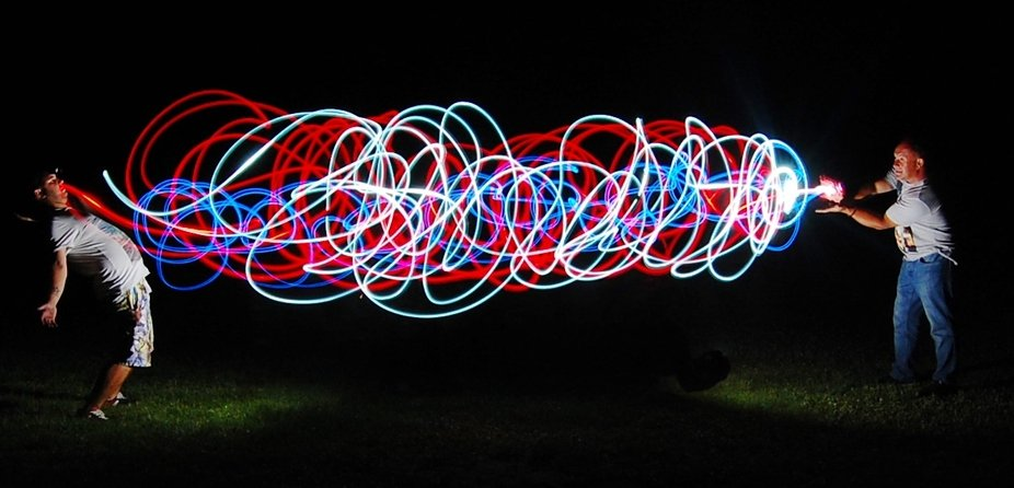 light painting  songoku