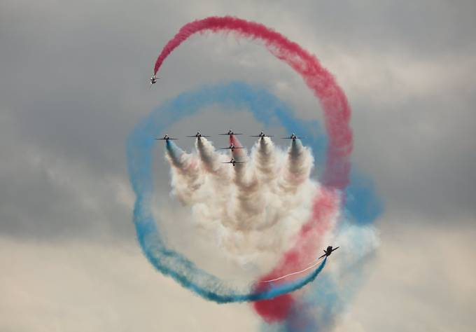 The Red Arrows at the Biggin Hill Festival of Flight by davidscottrobson - Flying High Photo Contest