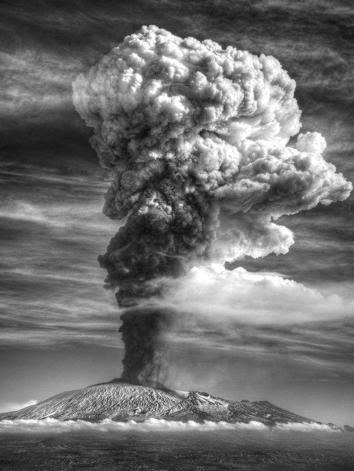 The highest cloud by AstroFail94 - Our World In Black And White Photo Contest