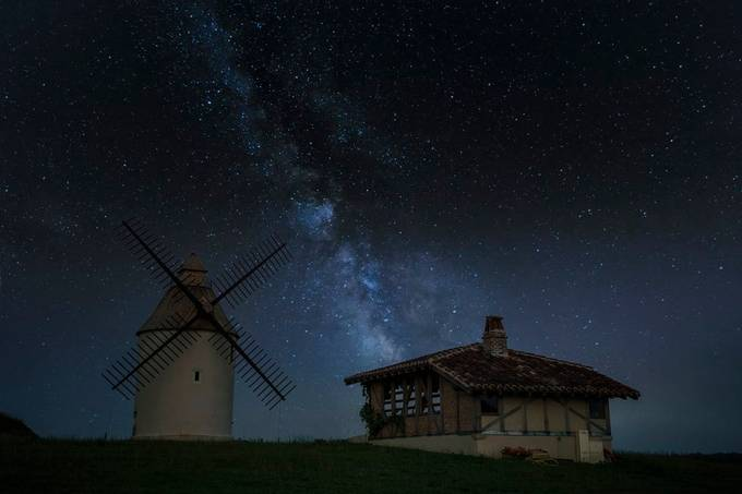 milky way over the windmill by thierrymagi - Social Exposure Photo Contest Vol 17