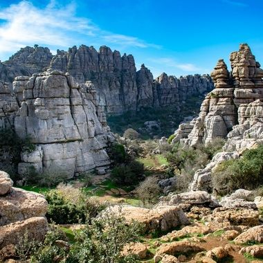a beautiful mountain scene taken in Torcal, Spain