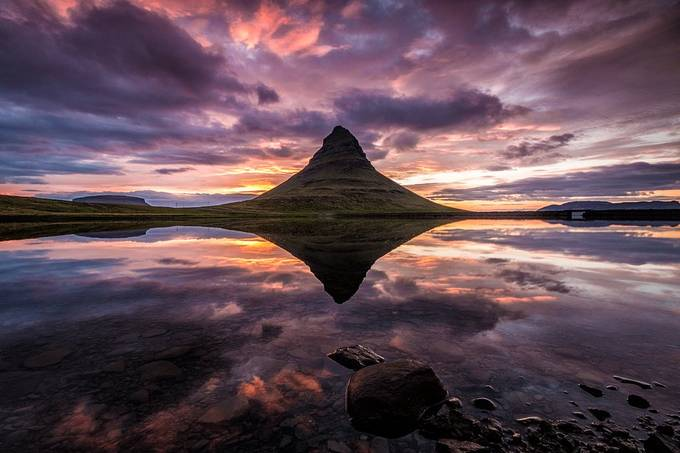 Reflection of Mount Kirkjufell by frankseltmann - The Natural Planet Photo Contest