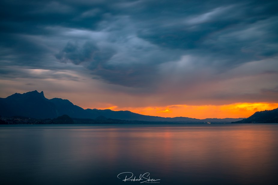 Taken on the last evening camping near Interlaken in Switzerland, the rain held off long enough t...