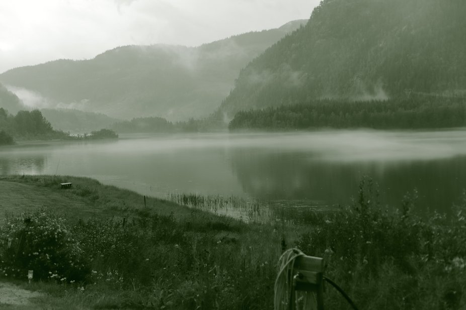 """After the downpour of rain the fjord in Norway had this spcial misty """"feeling""""&..."""