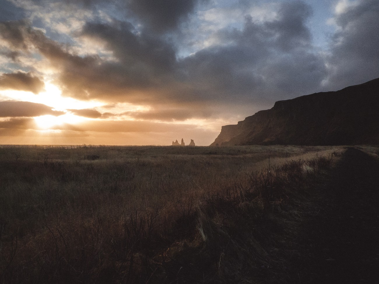 Wandering around the stunning scenery of Vik, Iceland.