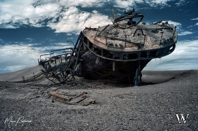 Shipwreck Along the Skeleton Coast - Namibia