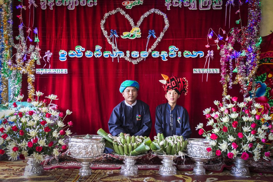 During our journey to Myanmar we stumbled into a wedding of a couple of the Shan ethnic popultaion