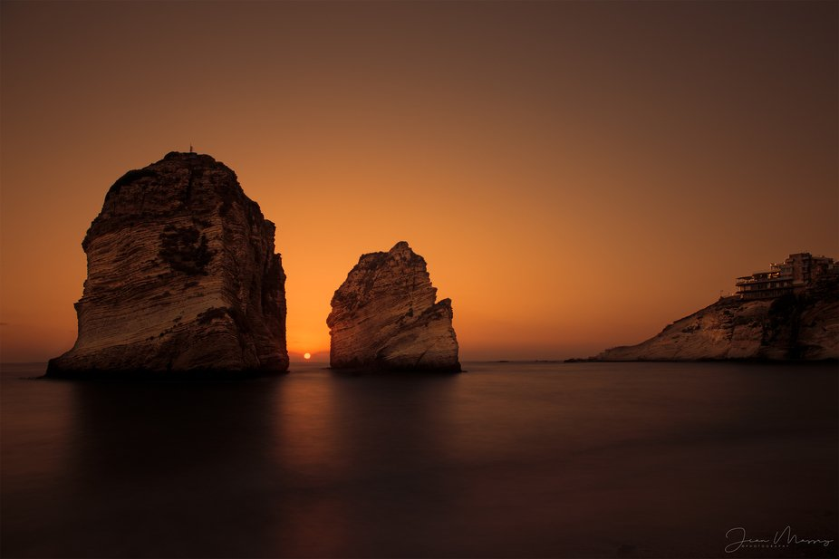 The Rock. Sunset