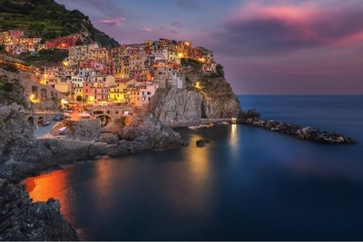 Sunset in Manarola