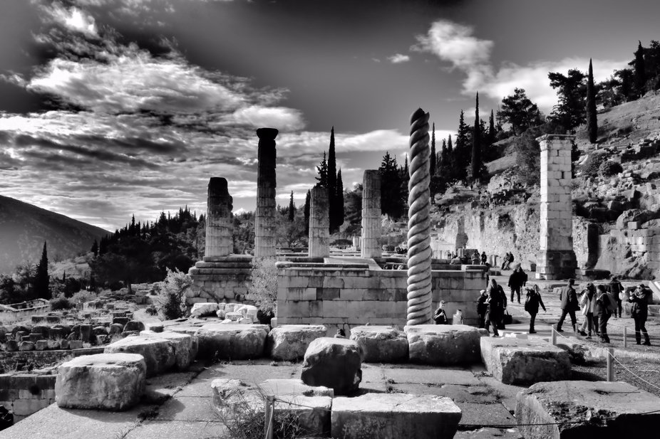 This was once the most important religious centres of the ancient World. The spiral serpent colum...