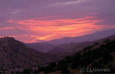 Sunset in eastern Afghanistan (Circa 2004).
