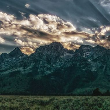 Painted Evening in Grand Teton