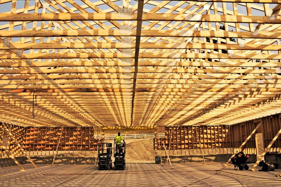 Building a turkey barn