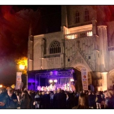 Music-Festival-Flanders-sings Tienen is a City where many music festivals are organized. This was the music-Fesitval Vlaanderen Sings on De Grote Markt just in front of the church Sincerely Theo Herbots