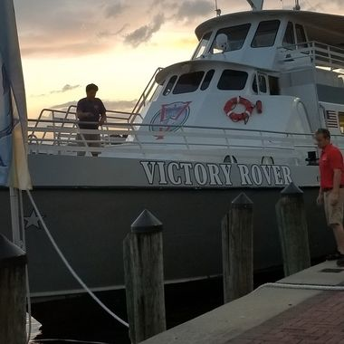 The Victory  Rover tour boat.