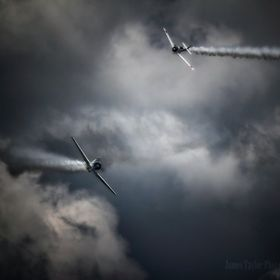 A couple of Japanese aircraft performing during a recent air show in Terre Haute Indiana.