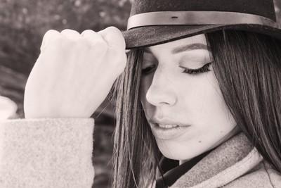 Beauty in a hat.