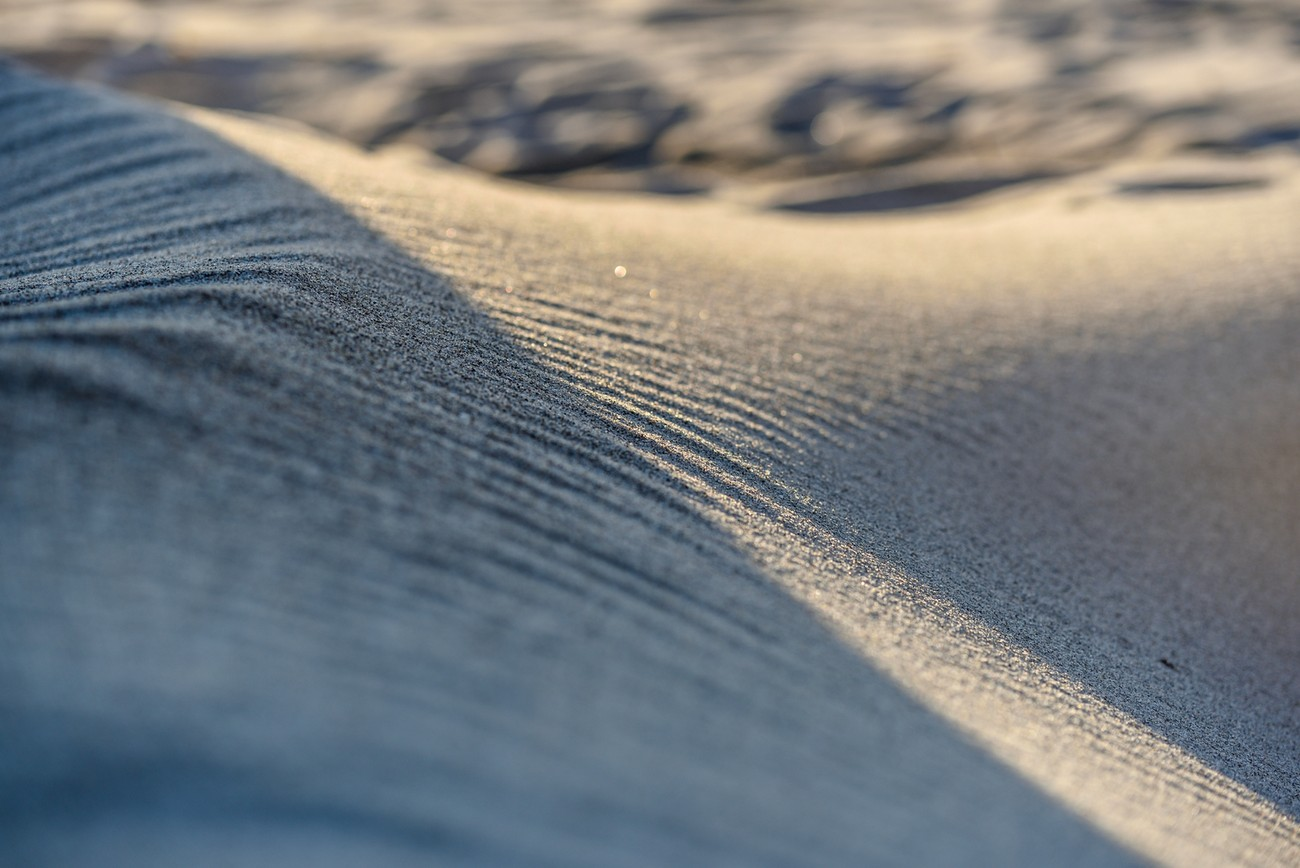Shadow of a sandy beach -close up shot from the Baltic sea