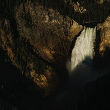 Morning Comes to Lower Yellowstone Falls
