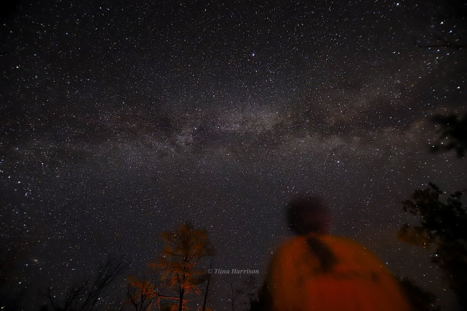 My daughter seeing the milky way for the first time. She was quite fascinated by it.