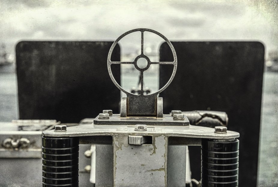 This is one of the guns on the USS Missouri taken during our recent adventure to Hawaii. Textured...