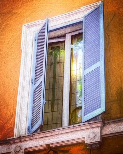 It's JUST a window.  But it's a cool window. ????♂️ .. .. #rome #italy???????? #letsgetlost #wishiwasthere #canonphotography #fossaceca #roma #shutters