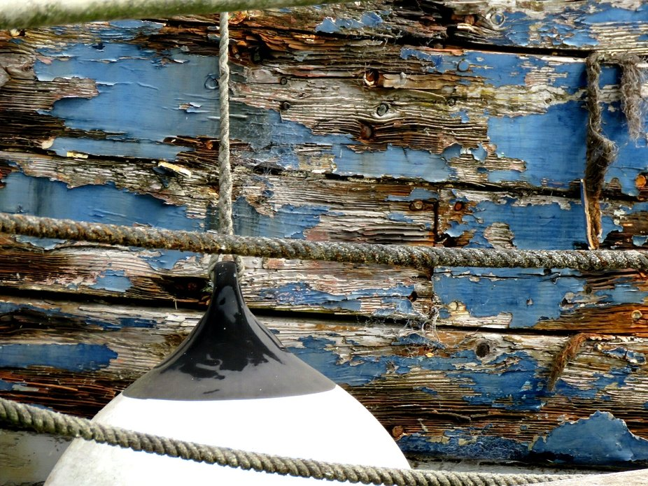 Weathered boat wood
