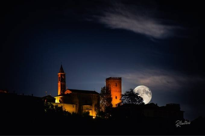 Nazzano and the moon by RiccardoMantero - This Is Europe Photo Contest