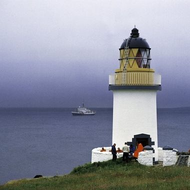 The Northern Lights Board team at work, the maintenance ship is in the back