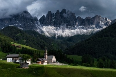 Santa Maddalena and the Odle Mountain Group, Italy