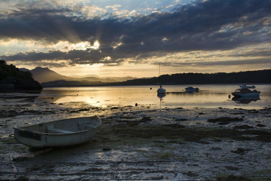 A 4.30 am start to catch the sunrise at Borth Y Gest near Porthmadog, North Wales