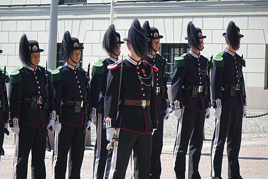Changing of the guard, Oslo.