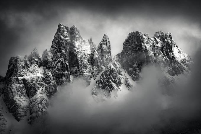 Dolomiti by Davemce - Our World In Black And White Photo Contest