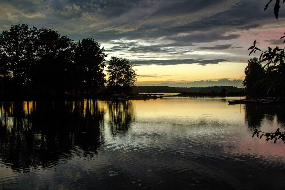 Sunset on Lake Pymatuning