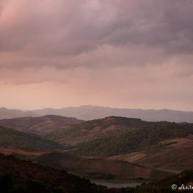 When you go out walking up a hill in Albania, and you end up witnessing a storm at sunset time...