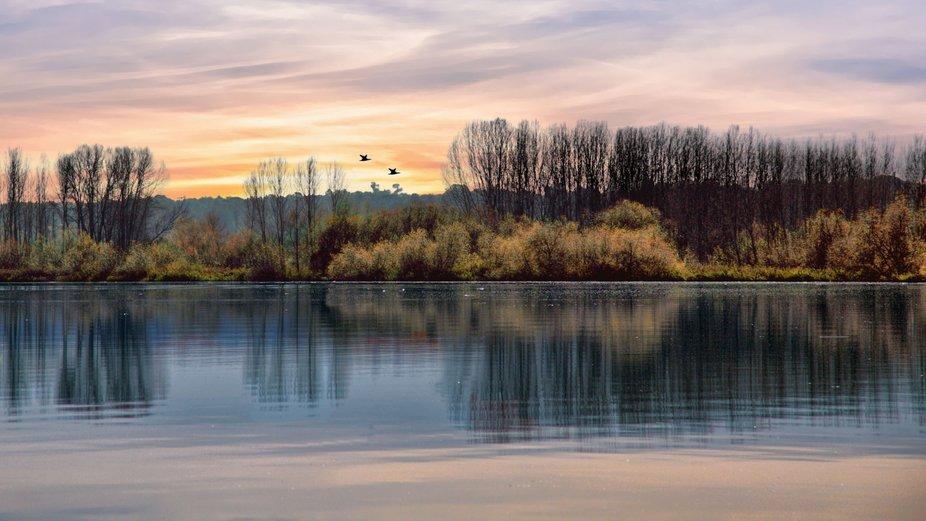 Pateira Lake - autumn colors