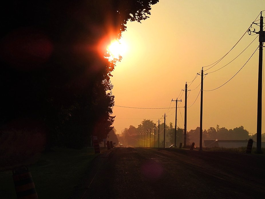 Nothing like a beautful sunrise on the country road
