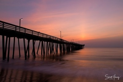 Virginia Beach Pier With Two Birds