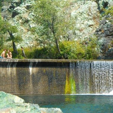 Waterfall in the Sierra Nevadas
