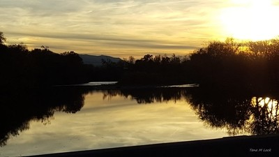 Sunset over the Nolichucky