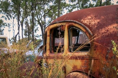 Rusted Windows of Time
