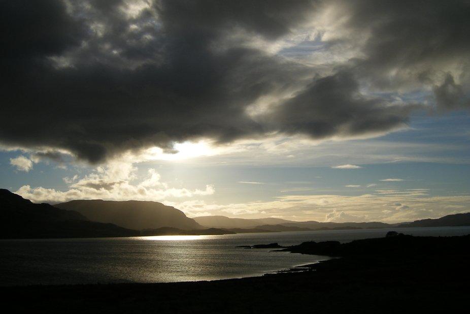 Evening light overTorridon sea loch