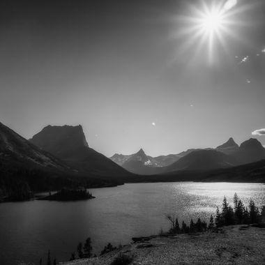 Sunshine Over St. Mary Lake