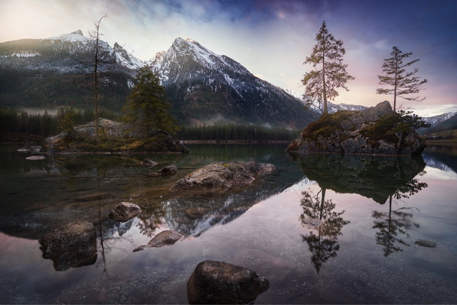 Sunrise at Lake Hintersee