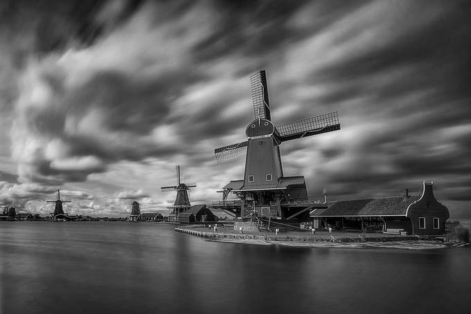 Windmills by jansieminski - Our World In Black And White Photo Contest