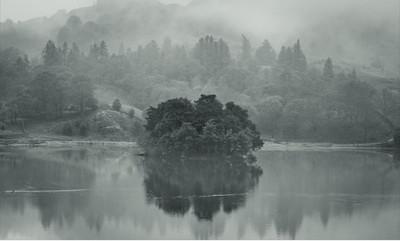 A misty morning in the Lake District national park