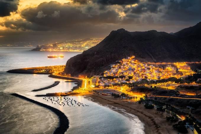 Sunset Over Las Teresitas | Tenerife, Spain by NicoTrinkhaus - Bright City Lights Photo Contest