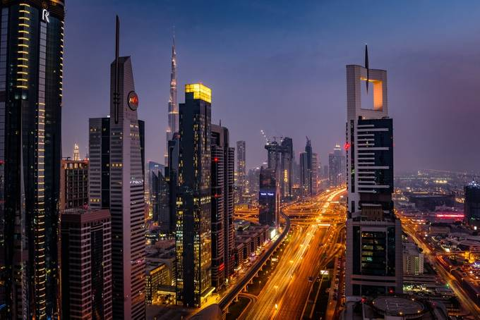 Sky View by rJiwani - Bright City Lights Photo Contest