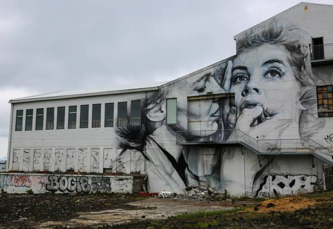 Abandoned warehouse with mural by lhartney - Warehouses Photo Contest